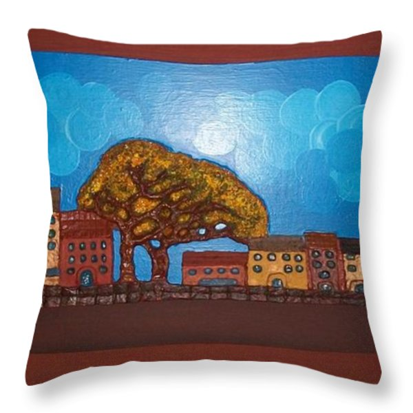 One Cloudy Day Throw Pillow by Otil Rotcod
