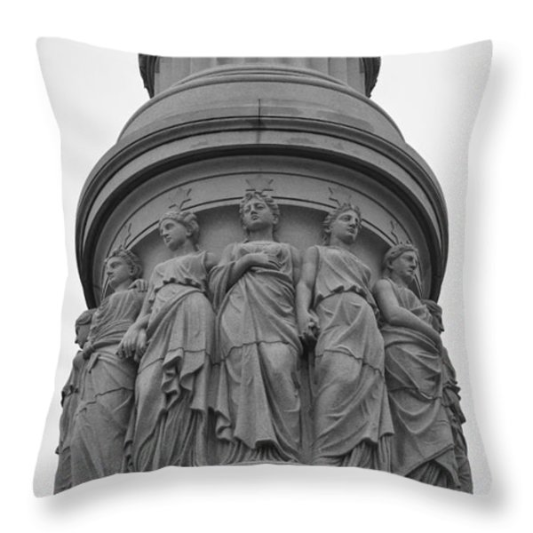One Country Yorktown Throw Pillow by Teresa Mucha