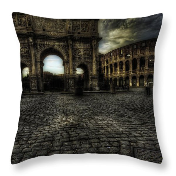 One Evening in Rome Throw Pillow by Erik Brede