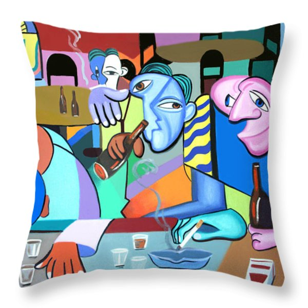 One For The Road Throw Pillow by Anthony Falbo