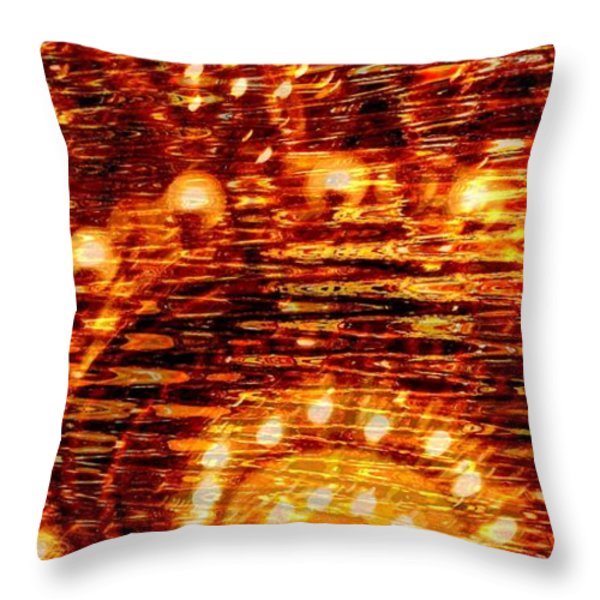 One Night In Paris - Abstract Art Throw Pillow by Carol Groenen