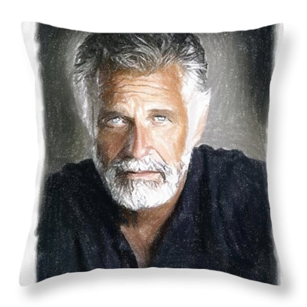 One of the Most Interesting Man in the World Throw Pillow by Angela A Stanton
