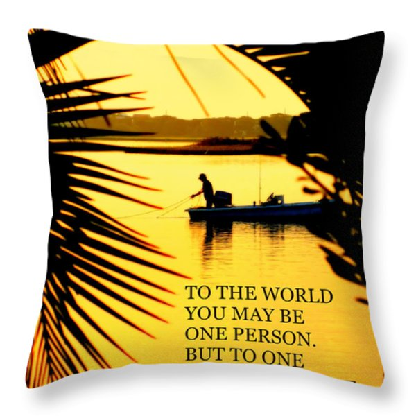 One Person Throw Pillow by Karen Wiles