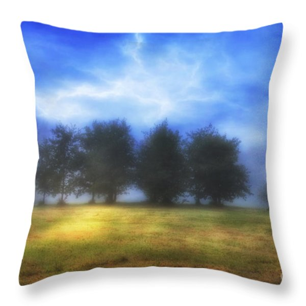 One September Morning Throw Pillow by Veikko Suikkanen