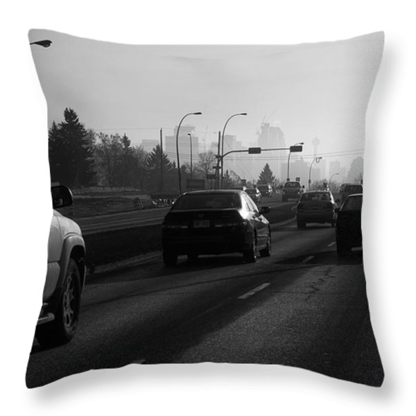 One Smoggy Morning Throw Pillow by Trever Miller