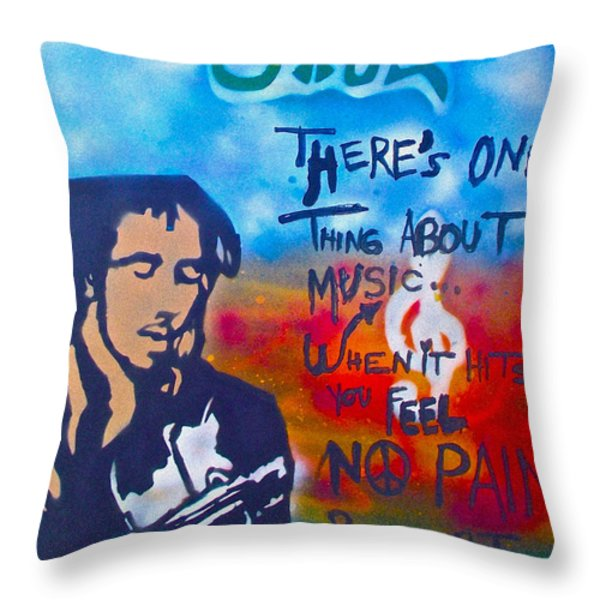 One Thing About Music Throw Pillow by TONY B CONSCIOUS
