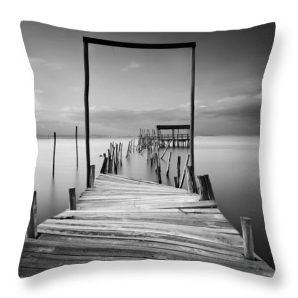 One Way Throw Pillow by Jorge Maia