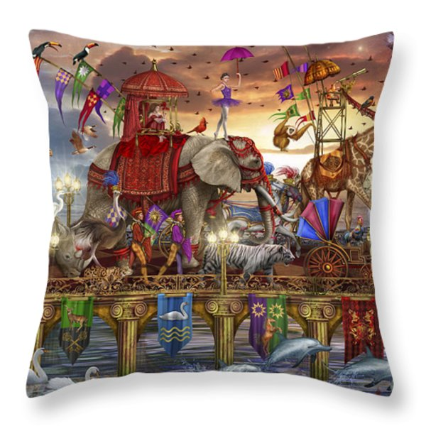 One Way Traffic Throw Pillow by Ciro Marchetti