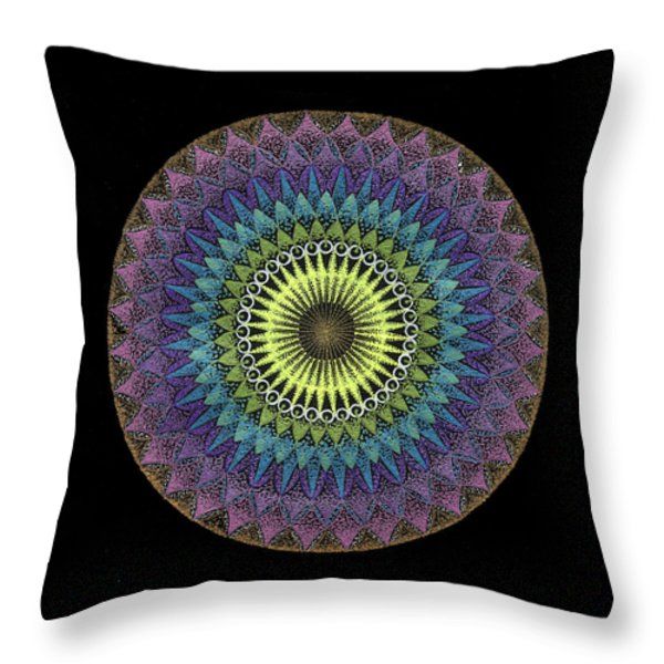 Oneness Throw Pillow by Keiko Katsuta