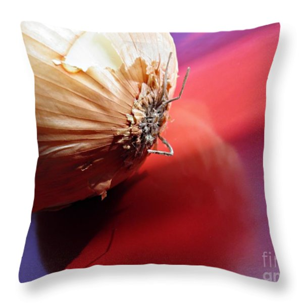 Onion Throw Pillow by Sarah Loft