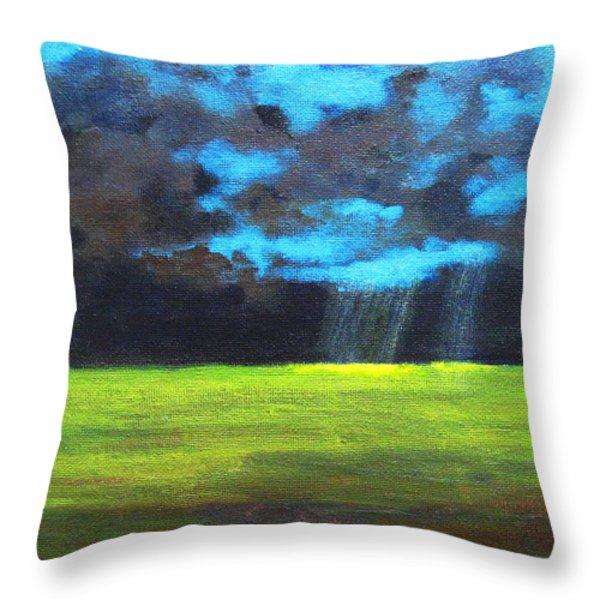 Open Field III Throw Pillow by Patricia Awapara