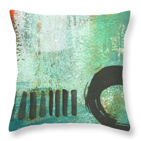 Open Gate- Contemporary Abstract Painting Throw Pillow by Linda Woods