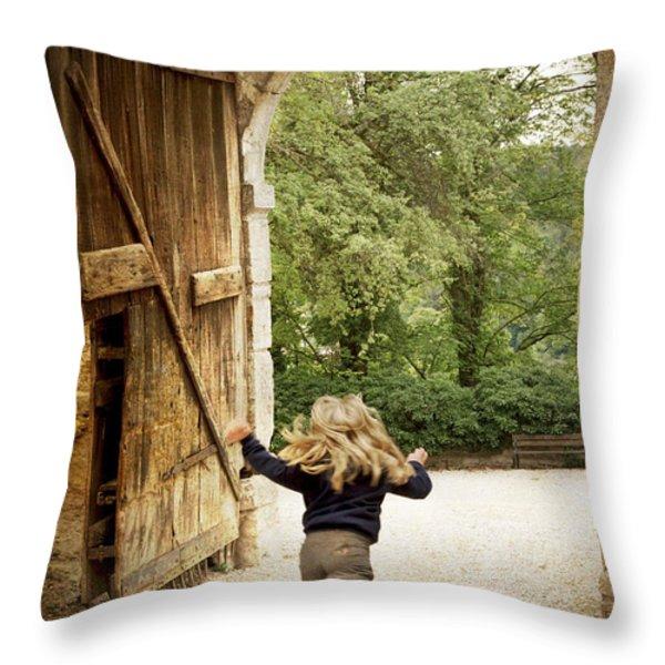 Open Gate Throw Pillow by Heiko Koehrer-Wagner