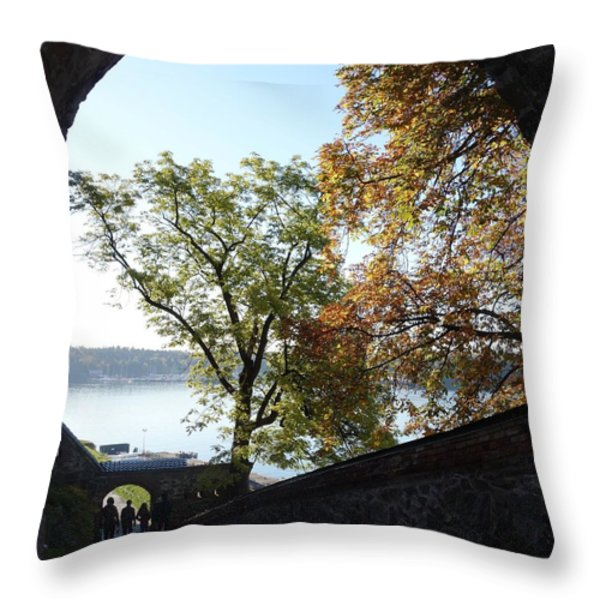 Open gate Throw Pillow by Hilde Widerberg