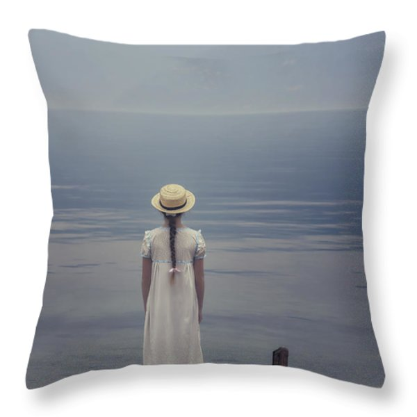 Open Suitcase Throw Pillow by Joana Kruse