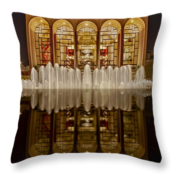 Opera House Reflections Throw Pillow by Susan Candelario