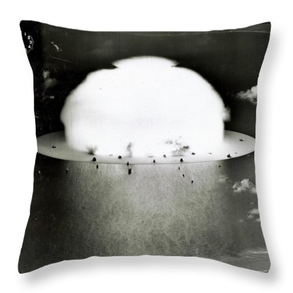Operation Crossroads Throw Pillow by Benjamin Yeager