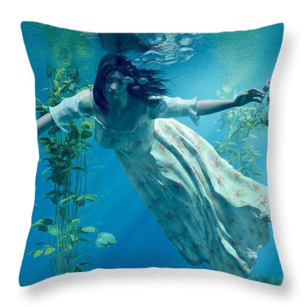 Ophelia Throw Pillow by Daniel Eskridge