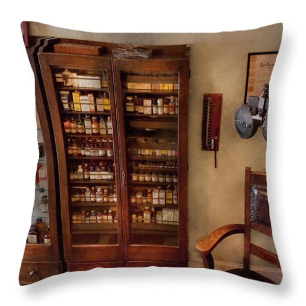 Optometrist - The Optometrists Office Throw Pillow by Mike Savad
