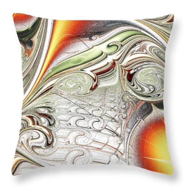 Orange Accent Throw Pillow by Anastasiya Malakhova
