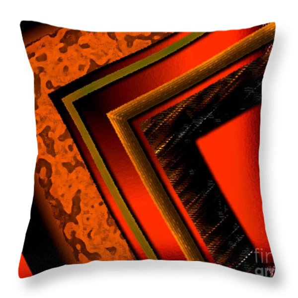 Orange and Brown  Throw Pillow by Mario  Perez