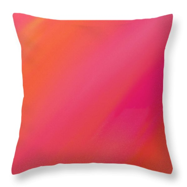 Orange And Raspberry Sorbet Abstract 1 Throw Pillow by Andee Design