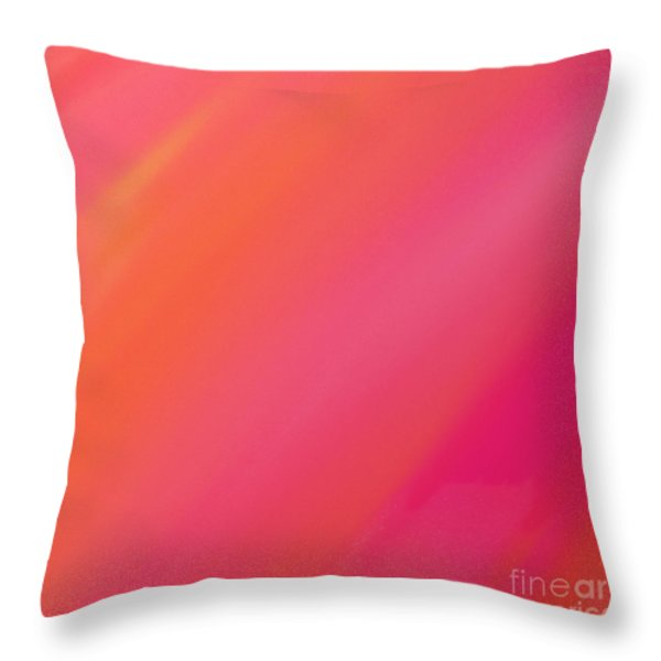 Orange And Raspberry Sorbet Abstract 2 Throw Pillow by Andee Design