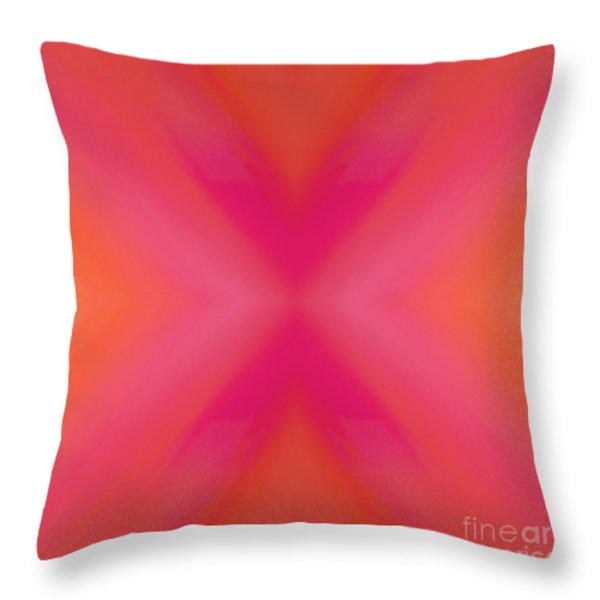 Orange And Raspberry Sorbet Abstract 6 Throw Pillow by Andee Design