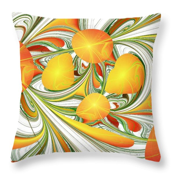 Orange Attitude Throw Pillow by Anastasiya Malakhova