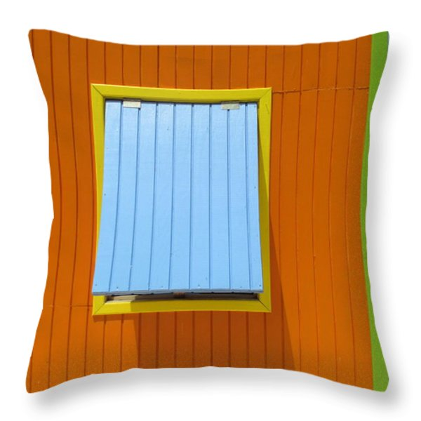 Orange Cabin Throw Pillow by Randall Weidner