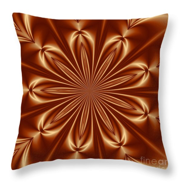 Orange Flower Burst Photoart Throw Pillow by Becky Hayes