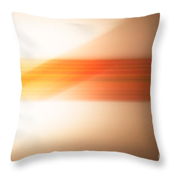 orange I Throw Pillow by Hannes Cmarits