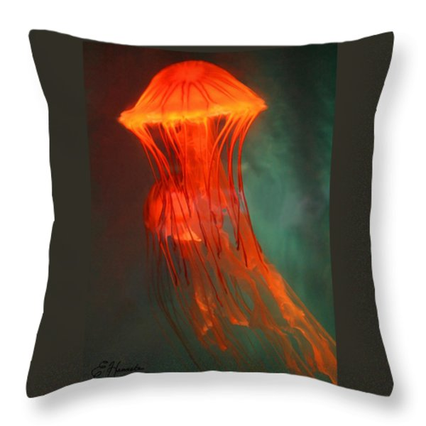Orange Jellies Throw Pillow by Ellen Henneke