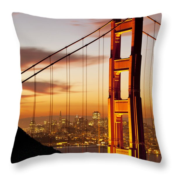 Orange Light at Dawn Throw Pillow by Brian Jannsen