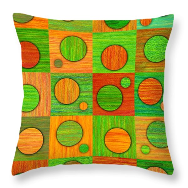 Orange Soup Throw Pillow by David K Small