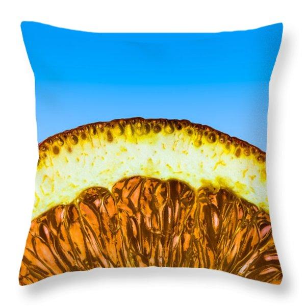 Orange Sunrise Throw Pillow by Alexander Senin