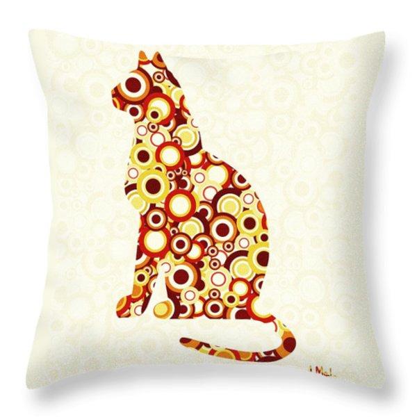 Orange Tabby - Animal Art Throw Pillow by Anastasiya Malakhova