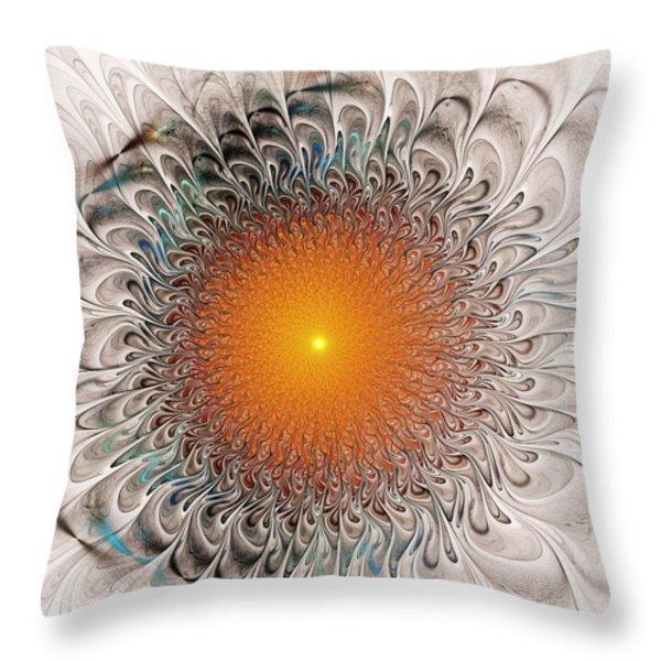 Orange Zone Throw Pillow by Anastasiya Malakhova