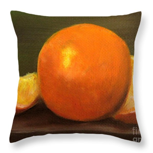 Oranges Throw Pillow by Carol Sweetwood
