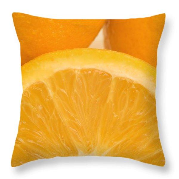 Oranges Throw Pillow by Darren Greenwood