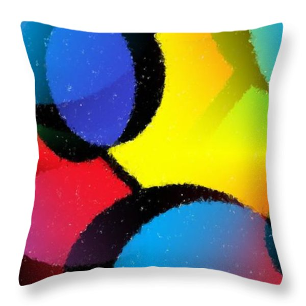 Orbit Throw Pillow by Chris Butler