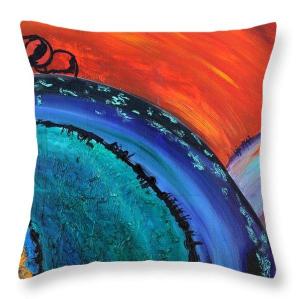 Orbit Throw Pillow by Victoria  Johns
