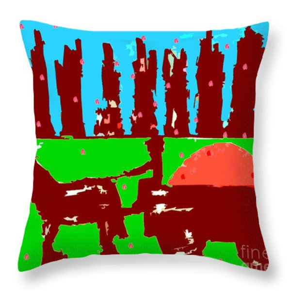 ORCHARD 2 Throw Pillow by Patrick J Murphy