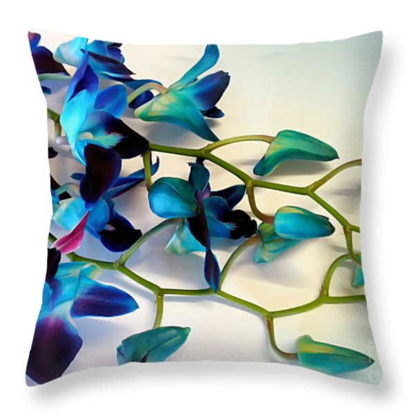 Orchid Bouquet Throw Pillow by Kaye Menner