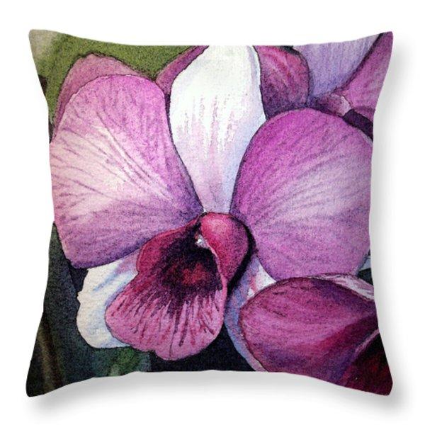 Orchid Throw Pillow by Irina Sztukowski