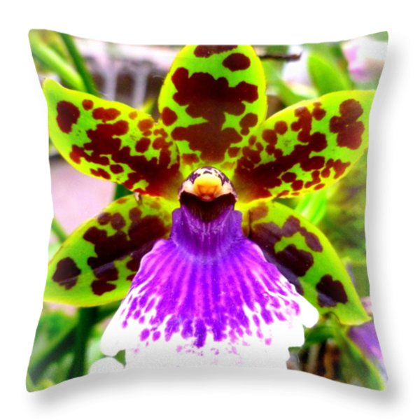 Orchid Throw Pillow by The Creative Minds Art and Photography
