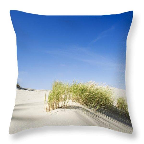 Oregon Dunes Throw Pillow by Charmian Vistaunet