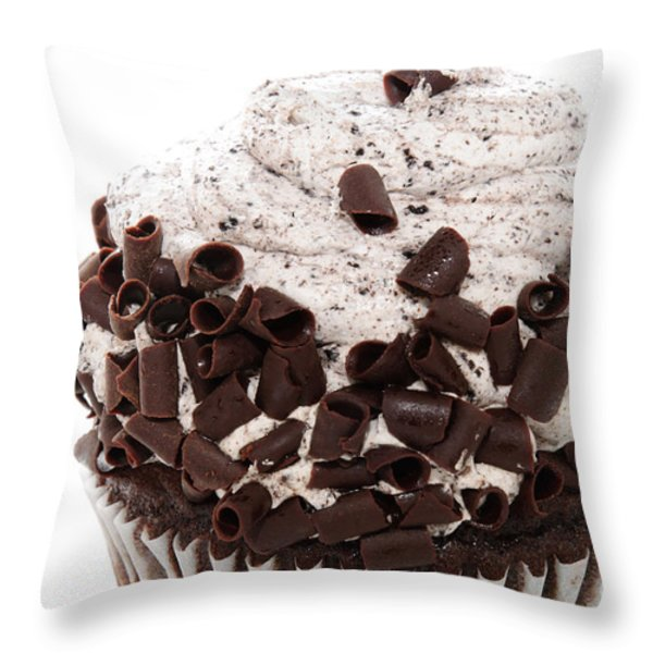 Oreo Cookie Cupcake 2 Throw Pillow by Andee Design