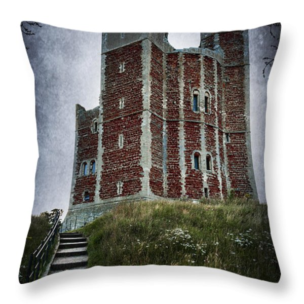 Orford Castle Throw Pillow by Svetlana Sewell