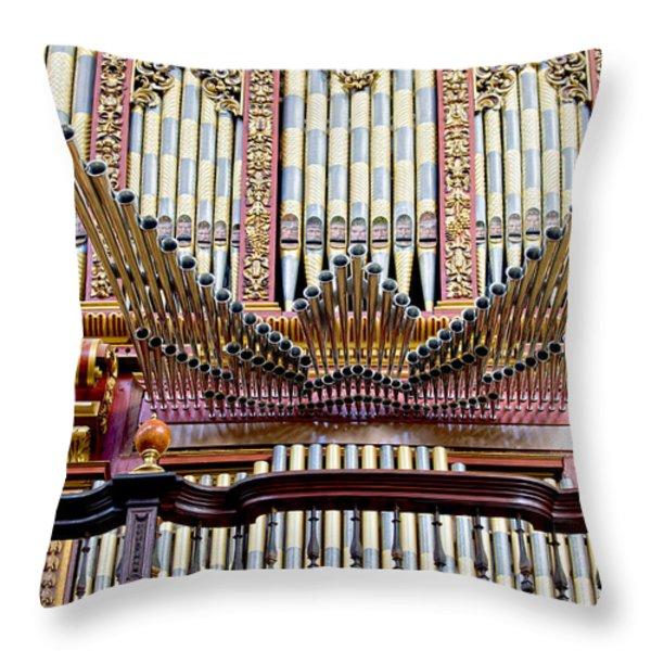 Organ in Cordoba Cathedral Throw Pillow by Artur Bogacki